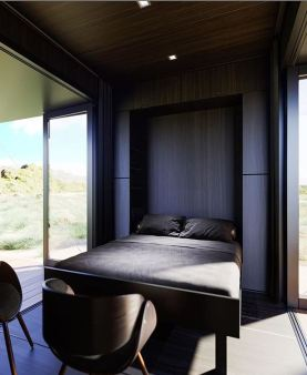 BuHaus Container Home interior fold down bed