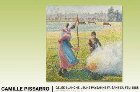 Camille Pissarro Gelée blanche Jeune Paysanne Faisant Du Feu 1888