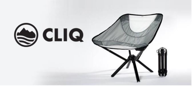 "Innovations: Portable ""Cliq Chair"" Folds Down To Size Of Water Bottle"