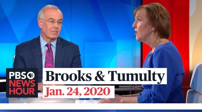 Politics: David Brooks And Karen Tumulty On The Latest In Washington (PBS)