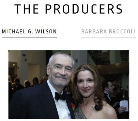 Eon Productions James Bond 007 Producers Michael G. Wilson and Barbara Broccoli