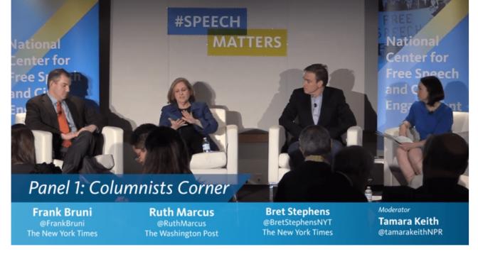 Politics & Society: Panel Discuses Free Speech And First Amendment (Video)
