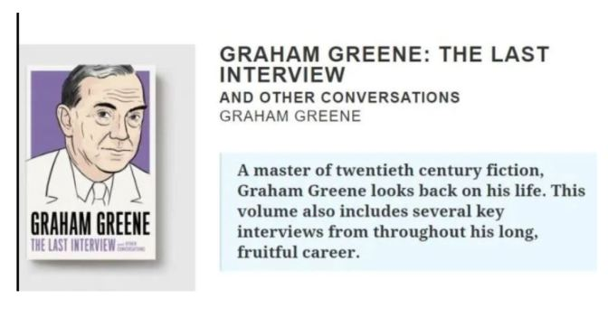 Interviews: 63-Year Old Author John 'Rick' MacArthur On His Book About Graham Greene