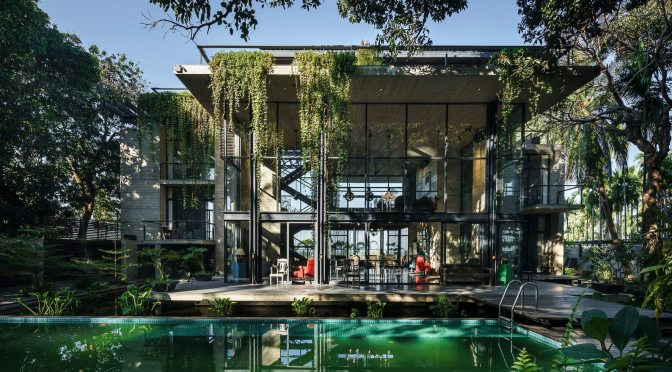 """Top 2019 Home Designs: """"Himchori Residence"""" In Bangladesh By River & Rain Ltd. Architects"""