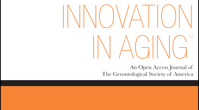 "Innovation In Aging: ""Creating an Age-Friendly Public Health System"""