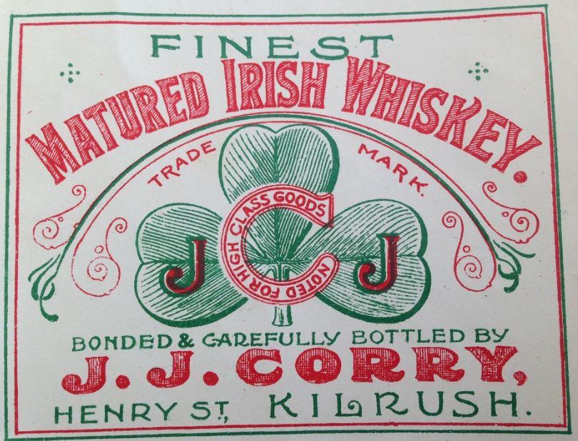 J.J. Corry Irish Whiskey Label