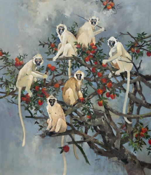 John Alexander The Temptation 2019 Landscape and Memory Berggruen Gallery January 2020