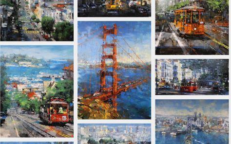 Mark Laguë Artist website collage