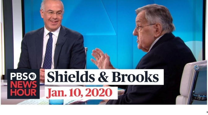 Politics: Mark Shields And David Brooks Discuss Latest In Washington (PBS)