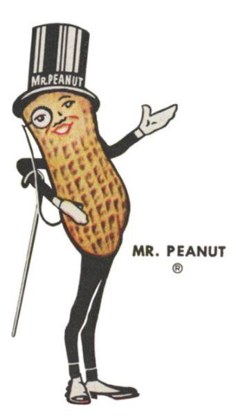 Mr. Peanut in 1950's