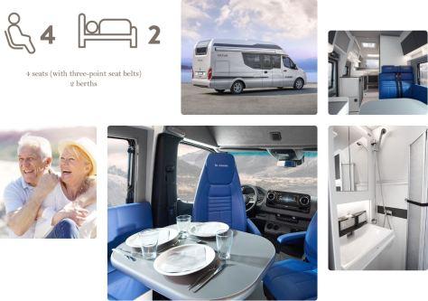 Nova EB from La Strada Sprinter Camper Van 2020 picture collage