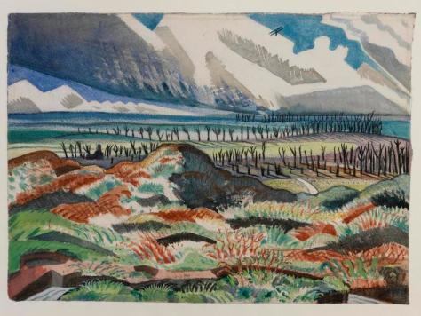Paul Nash:  Ruined Country - Old Battlefield, Vimy, near La Folie Wood, 1918.