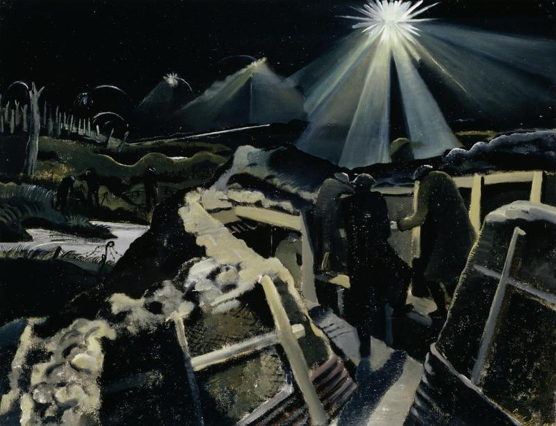 Paul Nash The Ypres Salient at Night, 1918.