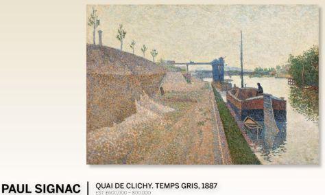 Paul Signac Quai De Clichy Temps Gris 1887