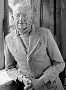 Photo of Andrew Wyeth by Peter Ralston In the Studio Courtesy of Ralston Gallery