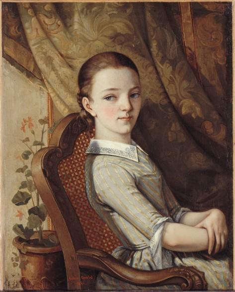 Portrait of Juliette Courbet by Gustave Courbet (1844)