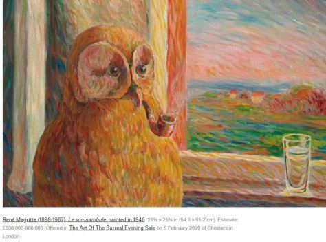 René Magritte 1898 - 1967 Le Somnambule 1946
