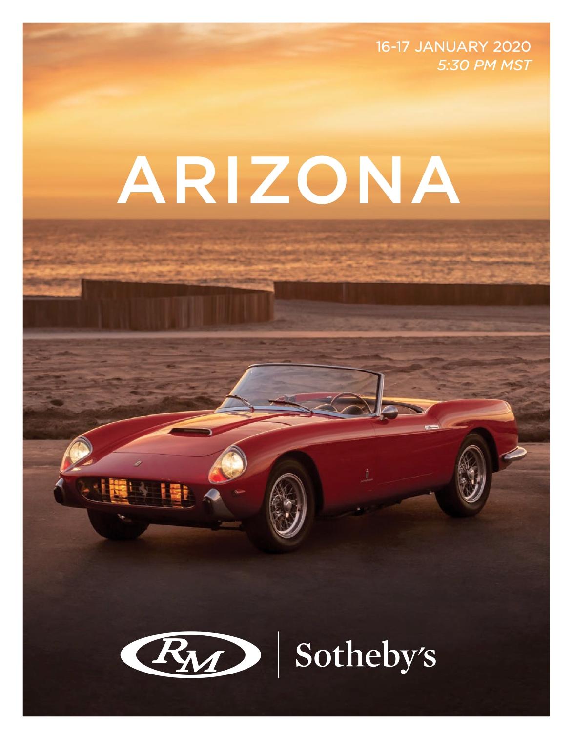 RM Sotheby's Car Auction AZ20 January 2020