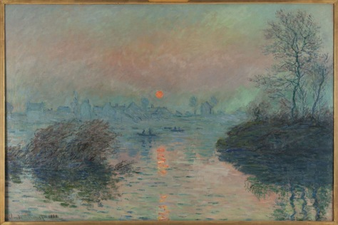 "Setting Sun on the Seine at Lavacourt"" by Claude Monet (1880)"