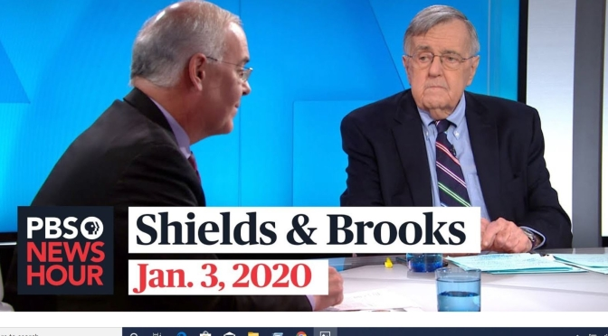 Politics: Mark Shields And David Brooks On The Week In Washington (PBS)