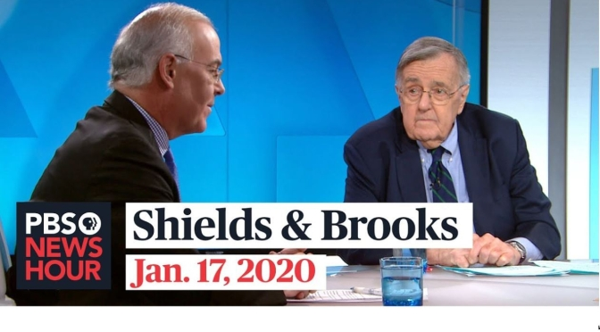 Politics: Mark Shields & David Brooks On The Latest In Washington (PBS)