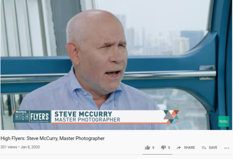 Steve McCurry Master Photographer Bloomberg High Flyers Video Interview January 8 2020