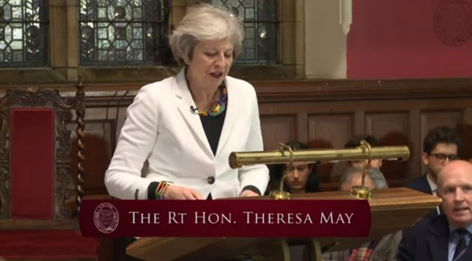 International Lectures: Former British Prime Minister Theresa May (Oxford Union Video)