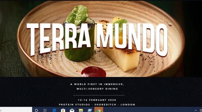 "New Food Trends: ""Terra Mundo"" Immersive Multi-Sensory ""Eat-ertainment"" In London On Feb 12-16"