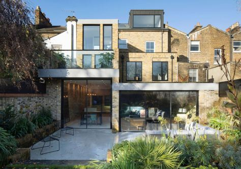 The Coach House by Selencky Parsons architects London Infill house back yard