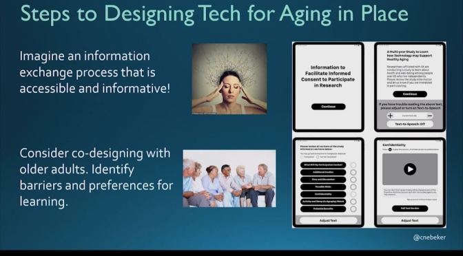 "Research: ""Designing Tech For Healthy Aging In Place"" (UC San Diego Video)"