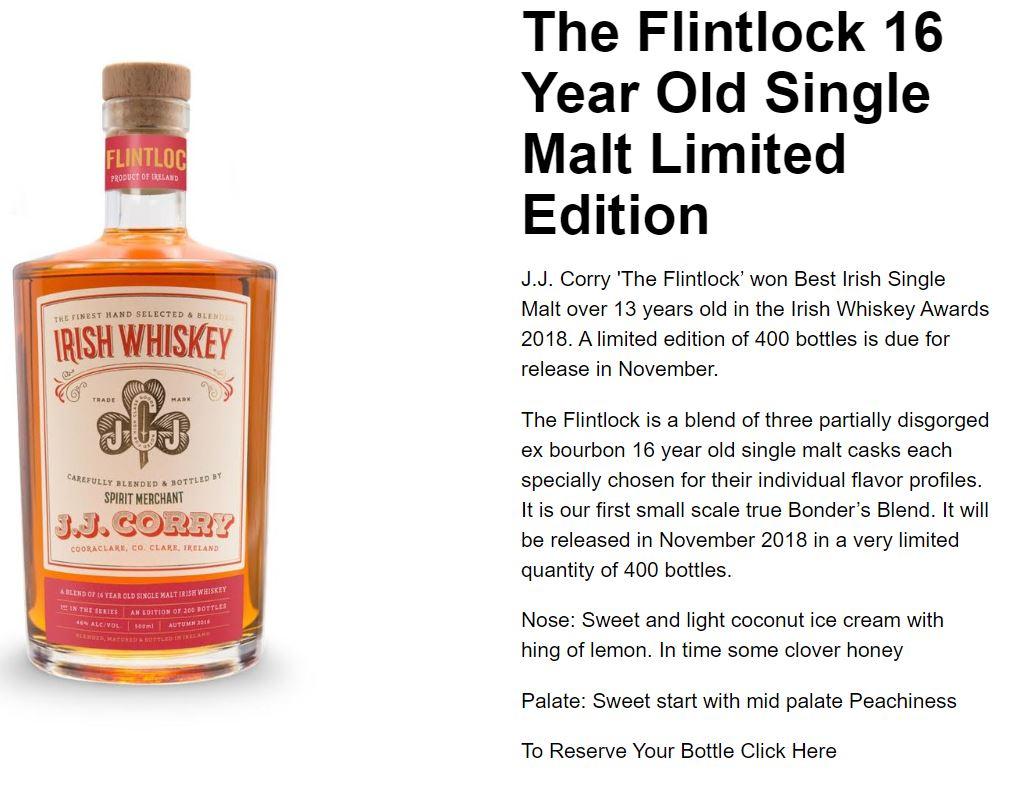 The Flintlock 16 Year Old Single Malt Limited Edition