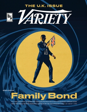 Variety The U.K. Issue Family Bond 007 magazine cover January 2020