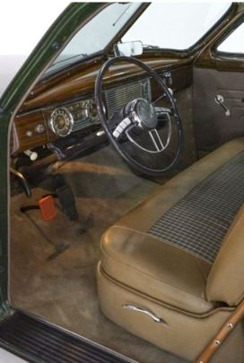 1948 Packard Standard Eight Station Sedan Interior Classic Driver