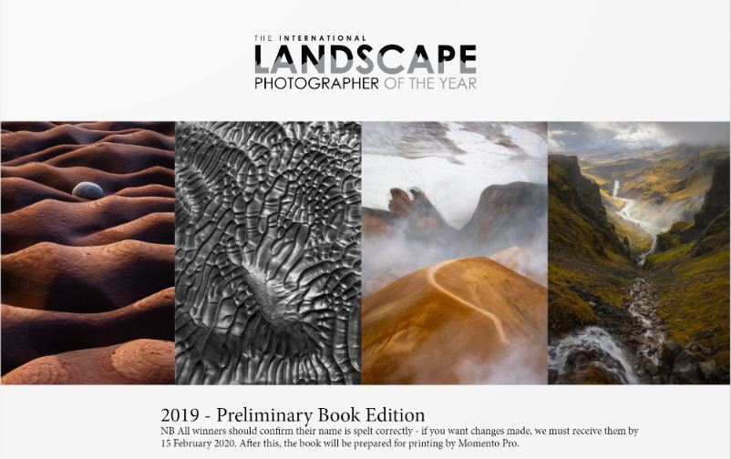 2019 International Landscape Photographer of the Year Awards Book