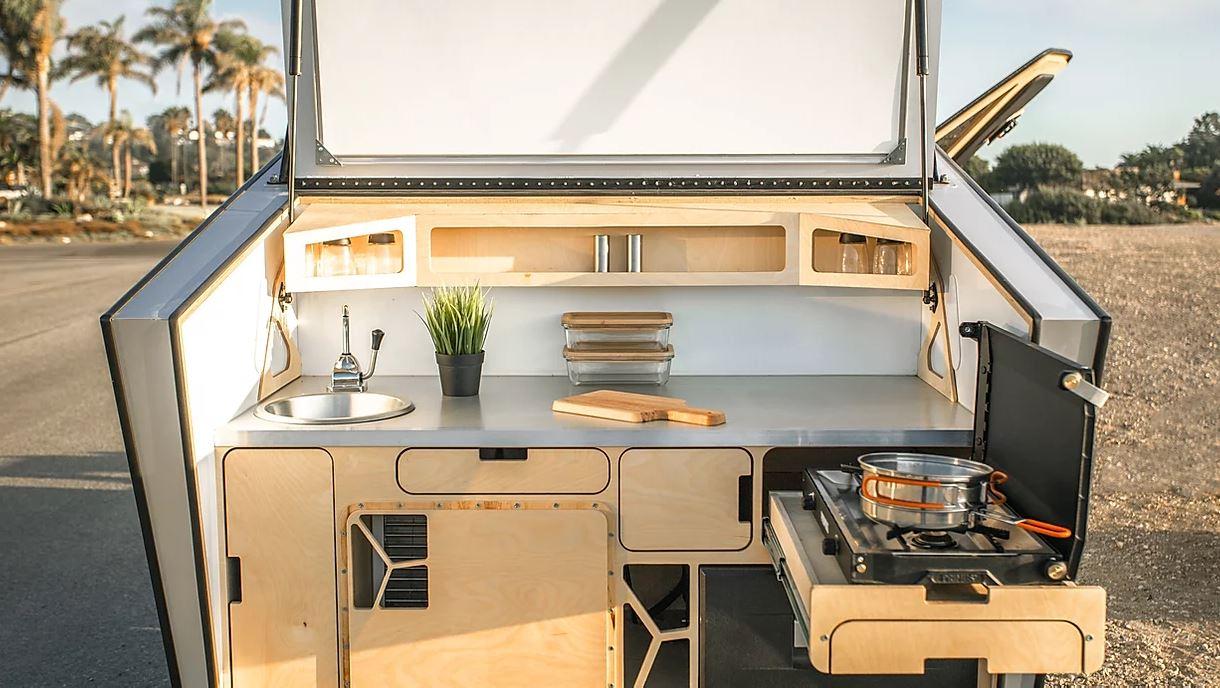 2020 POLYDROP KJ-20 Fully Loaded Camper Trailer kitchen