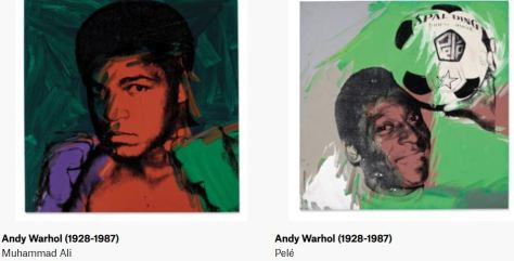 Andy Warhol Athletes paintngs Muhammad Ali & Pele Christie's Magazine February 2020