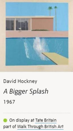 David Hockney A Bigger Splash Tate Britain