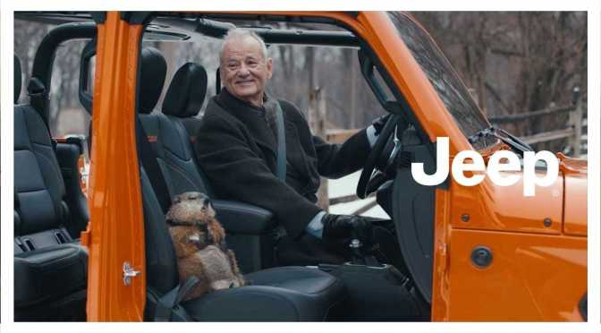 "Top 2020 Super Bowl Ad: ""Jeep – Groundhog Day"" Featuring 69-Year Old Actor Bill Murray (Video)"