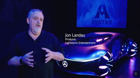 Jon Landau Producer Lightstorm Entertainment Making Of Mercedes-Benz Vision AVTR concept Car February 10 2020 video