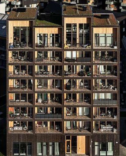 Kajstaden Tall Timber Building C.F. Møller Architects 2019