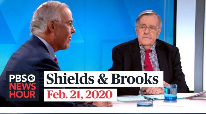 Politic: Mark Shields And David Brooks On Latest In Washington (PBS)