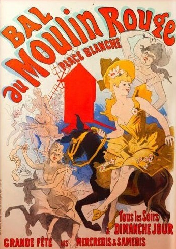 Moulin Rouge Poster from 1889