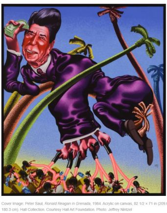 Peter Saul Ronald Reagan in Grenada 1984