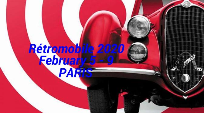 """Classic Cars: """"Rétromobile 2020 Paris"""" – February 5 – 9"""