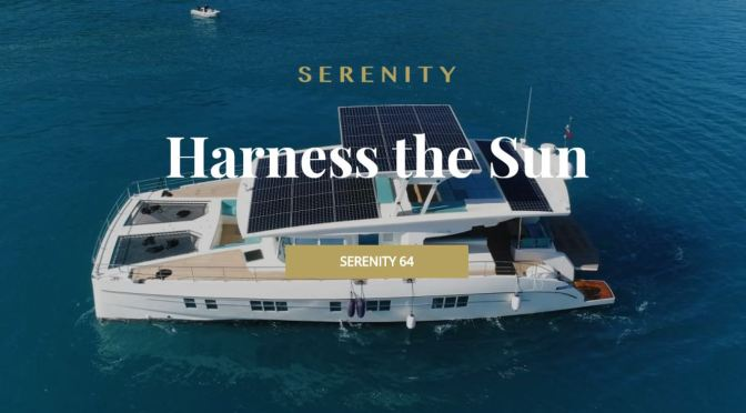 "Future Of Boating: ""2020 Serenity 64"" Solar-Electric Catamaran"