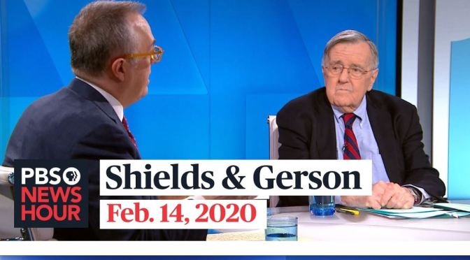 Politics: Mark Shields & Michael Gerson On New Hampshire Primary (PBS)