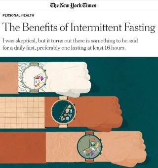 The Benefits of Intermittent Fasting Jane E Brody New York Times February 17 2020