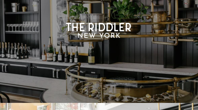 "New Champagne Bars: ""The Riddler"" In New York City"