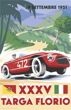 1951 Targa Florio Poster