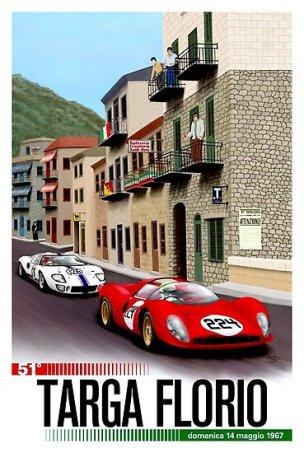 1967 Targa Florio Poster